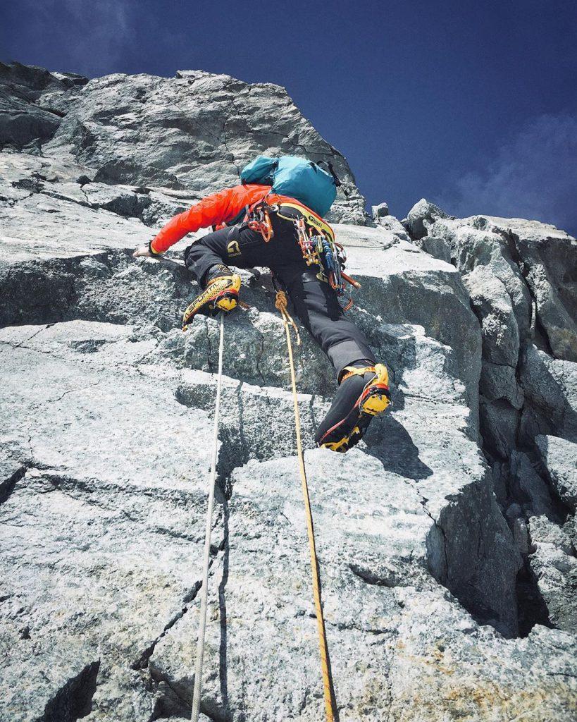wall climbing wearing la sportiva g2 show