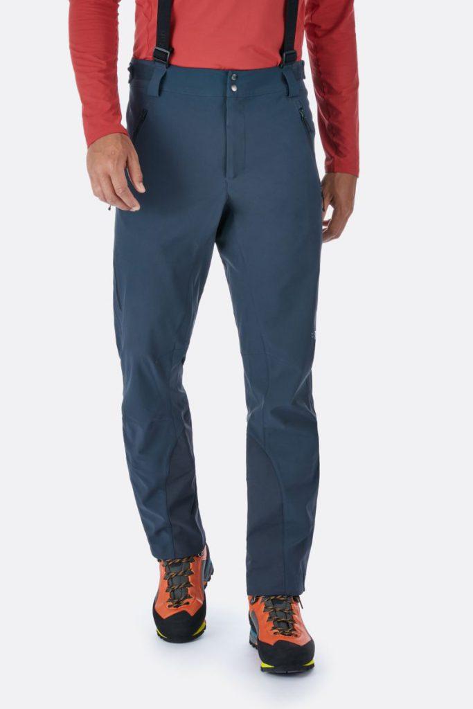 rab ascendor pants blue color front