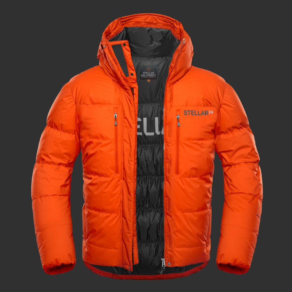 Stellar Equipment | Guide Expedition 900 fill Down Jacket - red color
