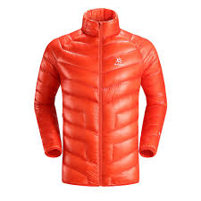Kailas - Mont Ultralight 900 fill down jacket front orange