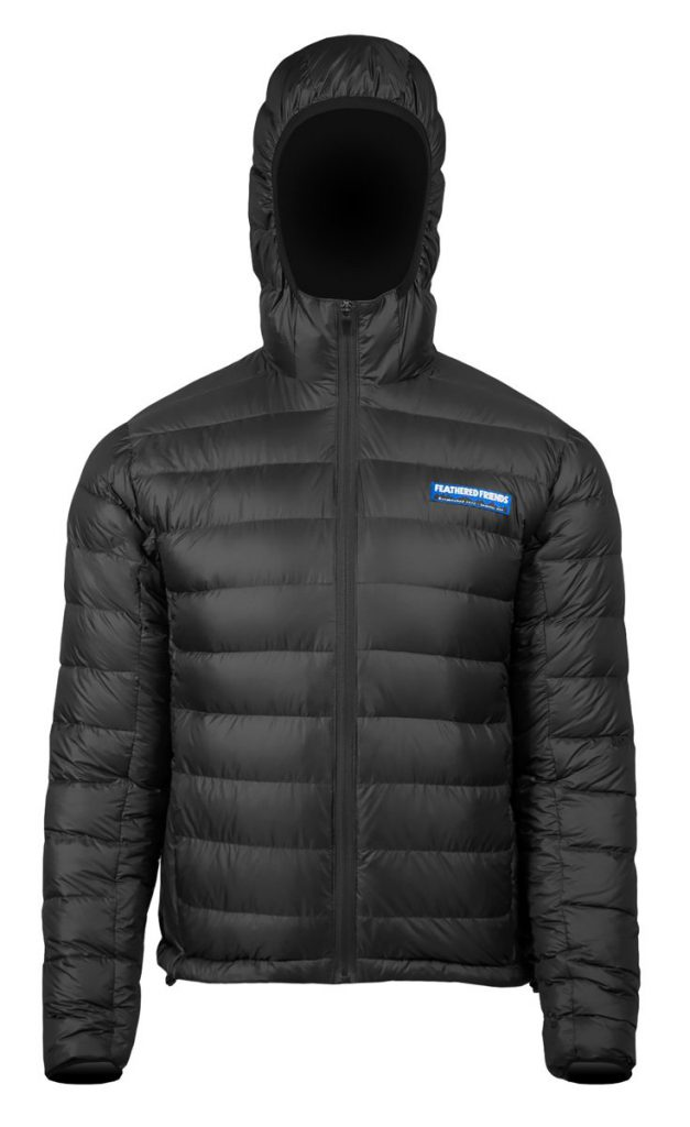Feathered Friends - Eos men's 900 fill down jacket - black color - front view - outdooreer