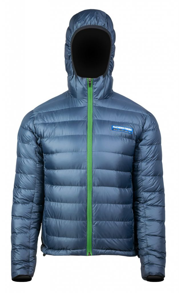 Feathered Friends - Eos men's 900 fill down jacket - blue color - front view - outdooreer