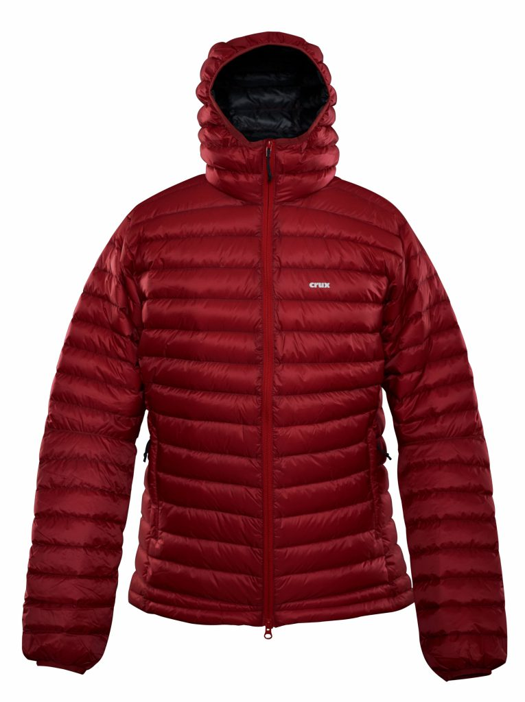 Crux | Halo 900 fill down jacket - red color