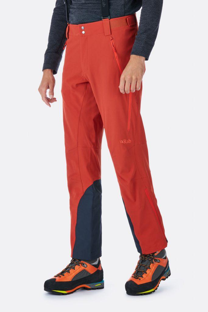 rab ascendor pants orange color side