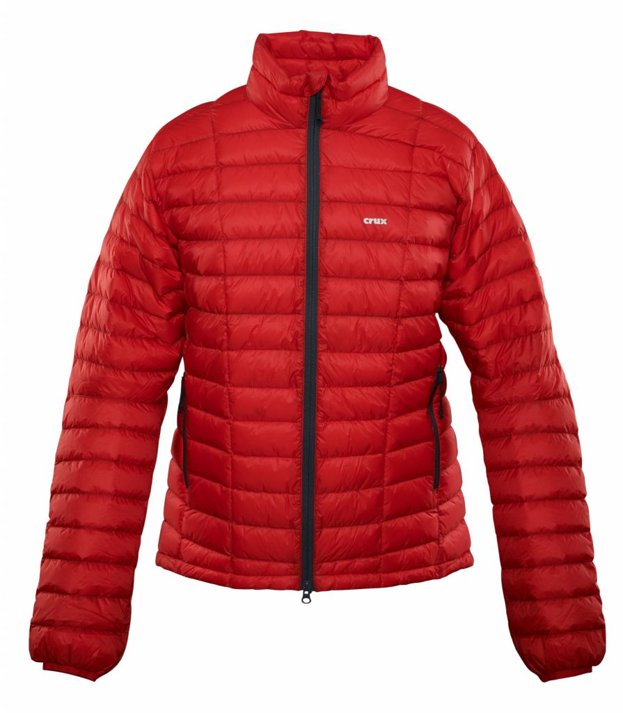 Crux Turbo 900 fill Jacket red color