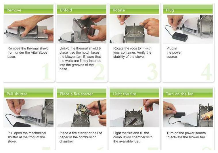 instruction how to use vital grill