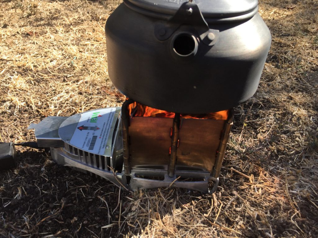 vital grill with pot for boiling water