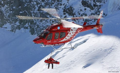 helicopter rescue in alps