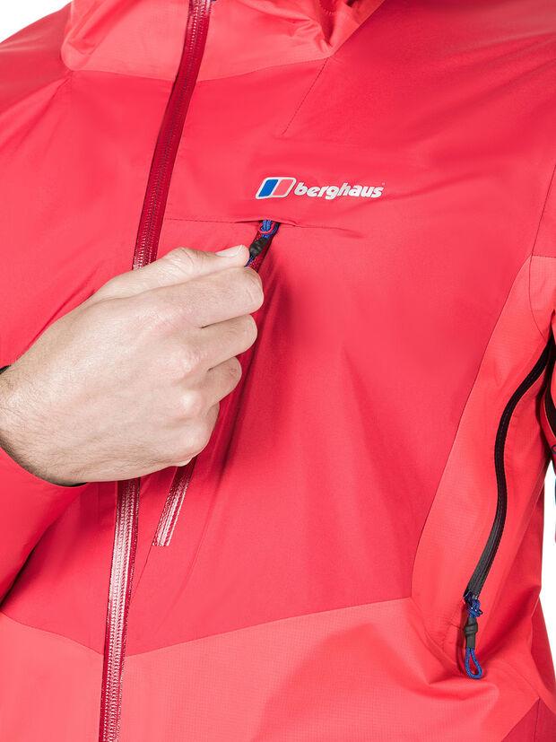BERGHAUS - CHANGSTE WATERPROOF GORETEX JACKET - RED - front chest pocket