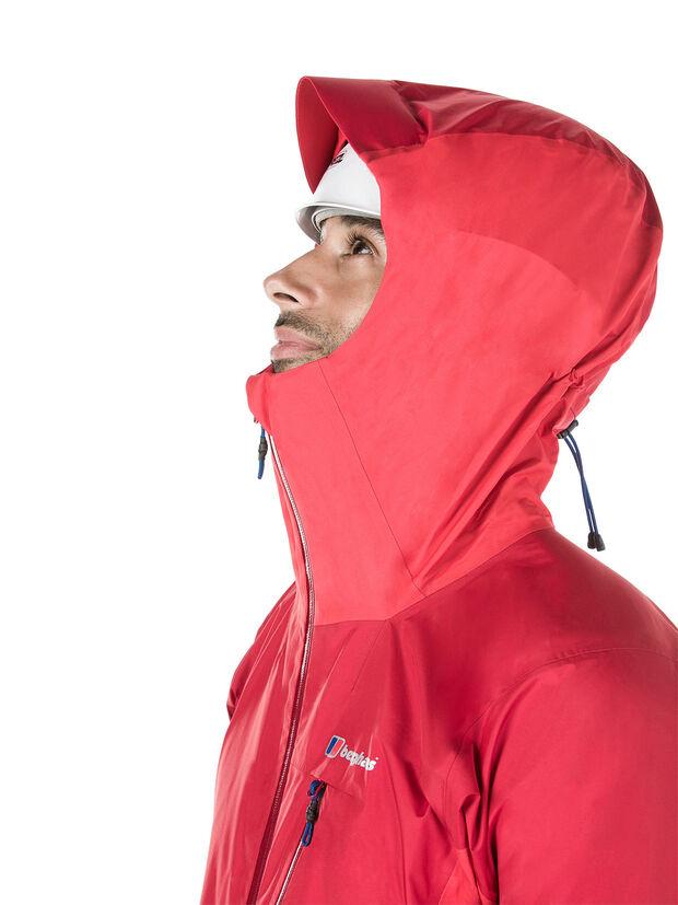 BERGHAUS - CHANGSTE WATERPROOF GORETEX JACKET - RED - adjustable hood