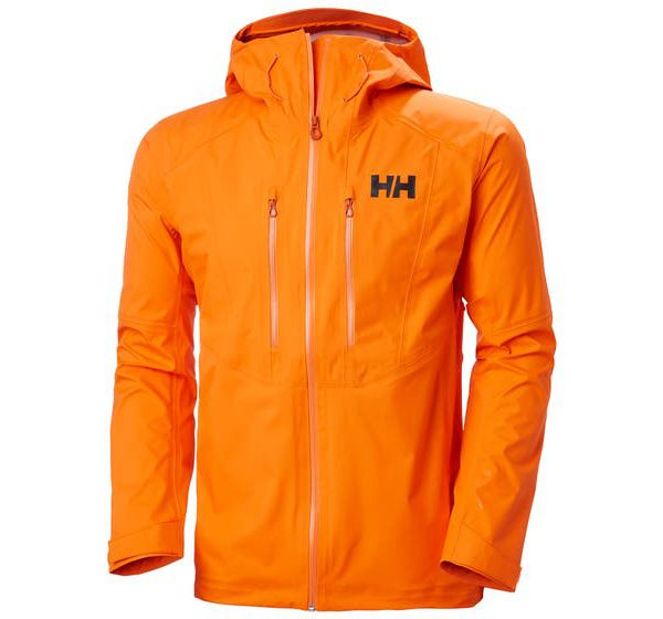 helly hansen - VERGLAS 3L SHELL JACKET - front orange