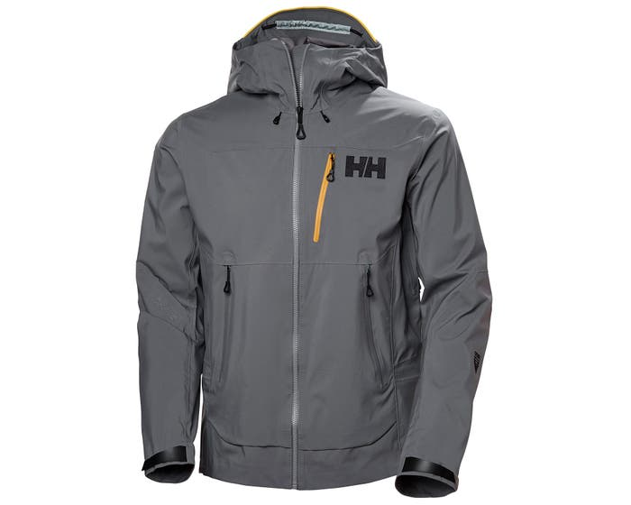 helly hansen - ODIN MOUNTAIN 3L SHELL JACKET - grey front - close