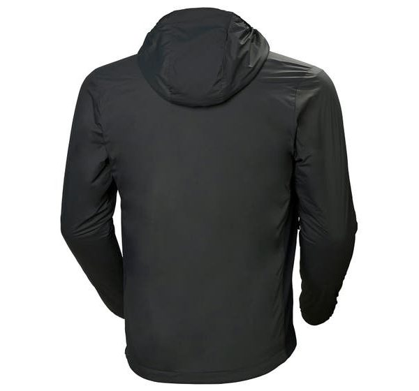 ODIN STRETCH HOODED LIGHT INSULATOR - charcoal- back