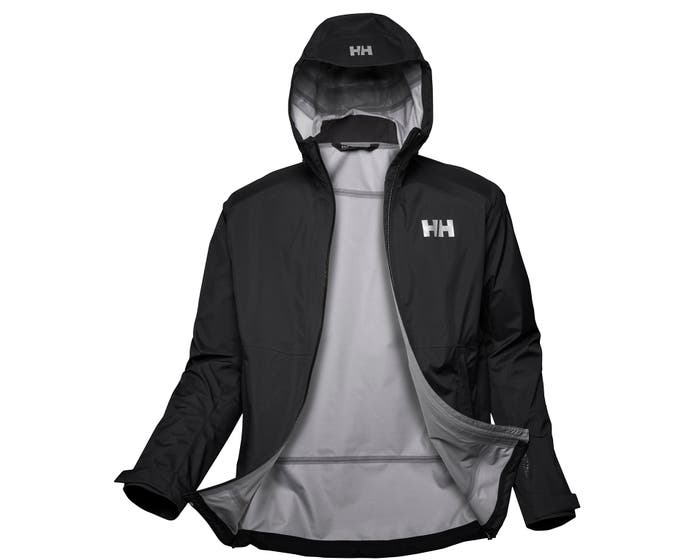 helly hansen - VIMER 3L SHELL JACKET - black front open