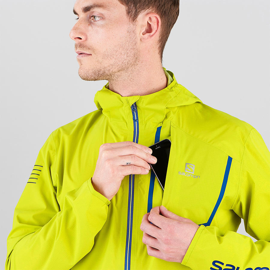 BONATTI PRO WP JKT - citronelle color - details pocket