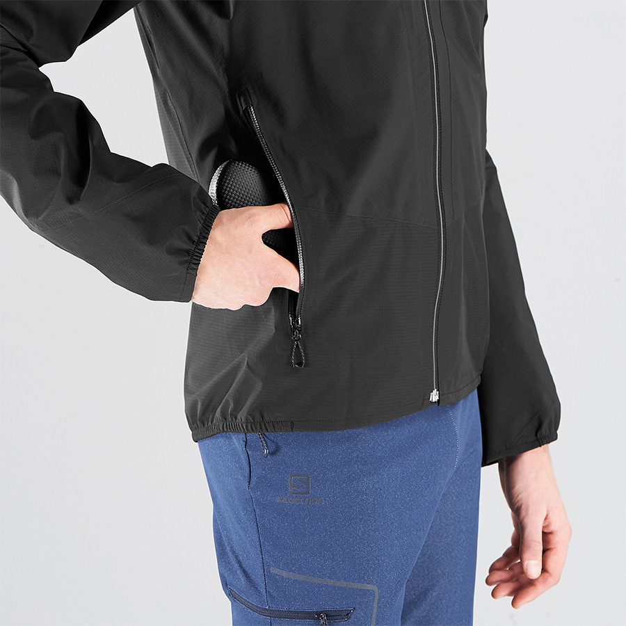 OUTLINE 360 3L JKT - black - pocket detail