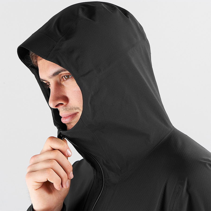 OUTLINE 360 3L JKT - black - hood detail