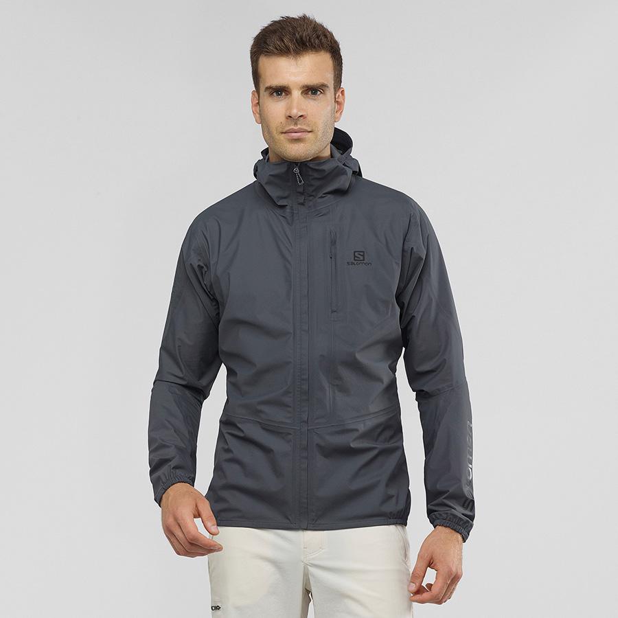 OUTSPEED 360 3L JKT - grey ebony - front - wearing