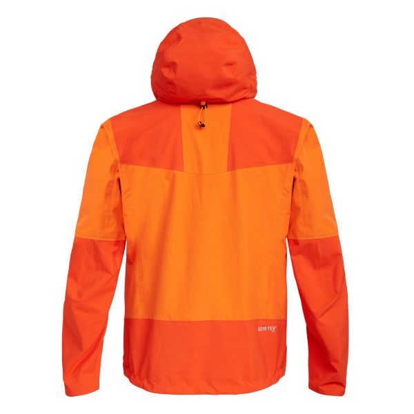 ORTLES 3 GORE-TEX PRO waterproof man jacket orange for mountains