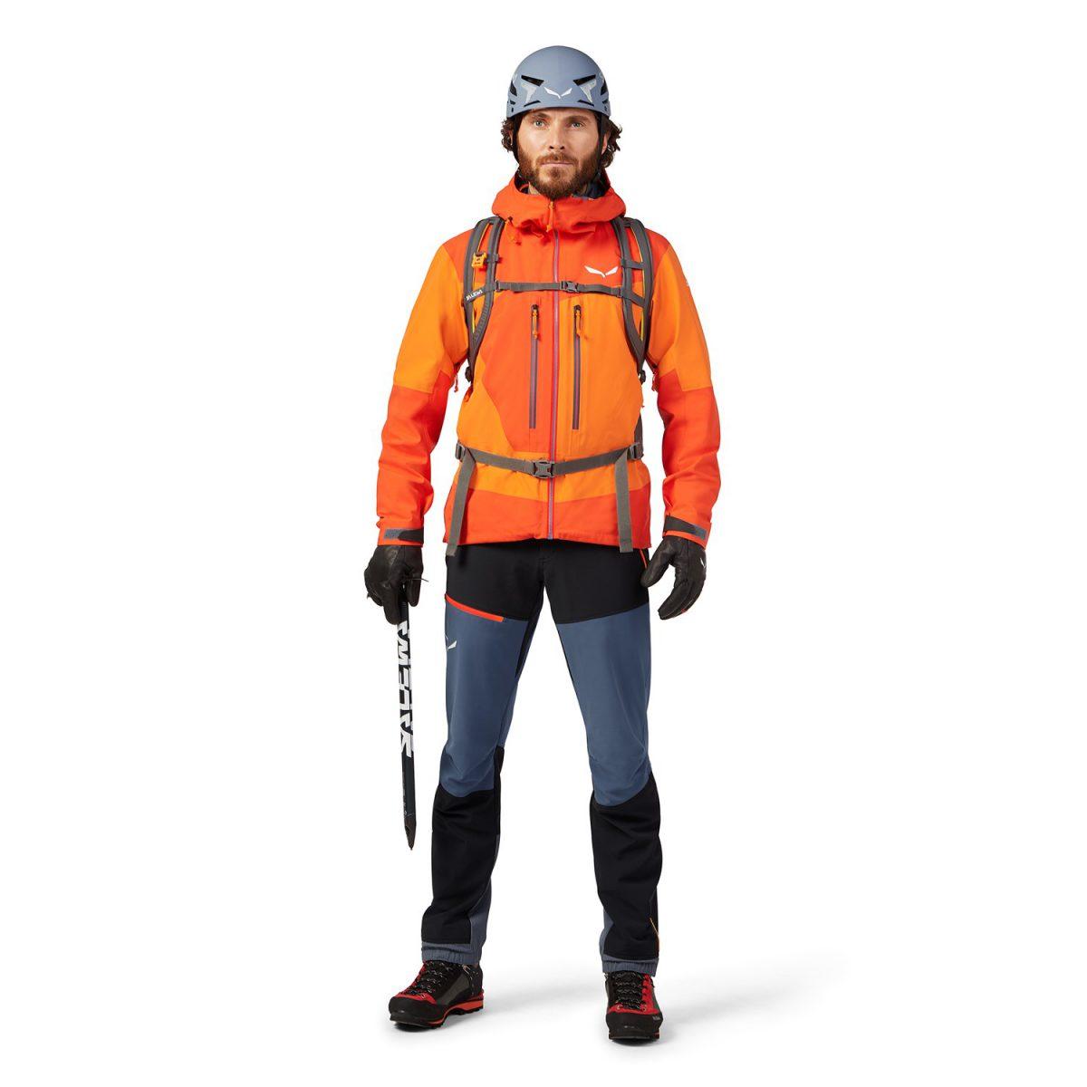 ORTLES 3 GORE-TEX PRO waterproof man jacket orange backpack compatible