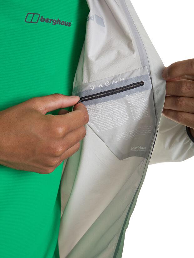 berghaus HYPER 100 JACKET security pocket white