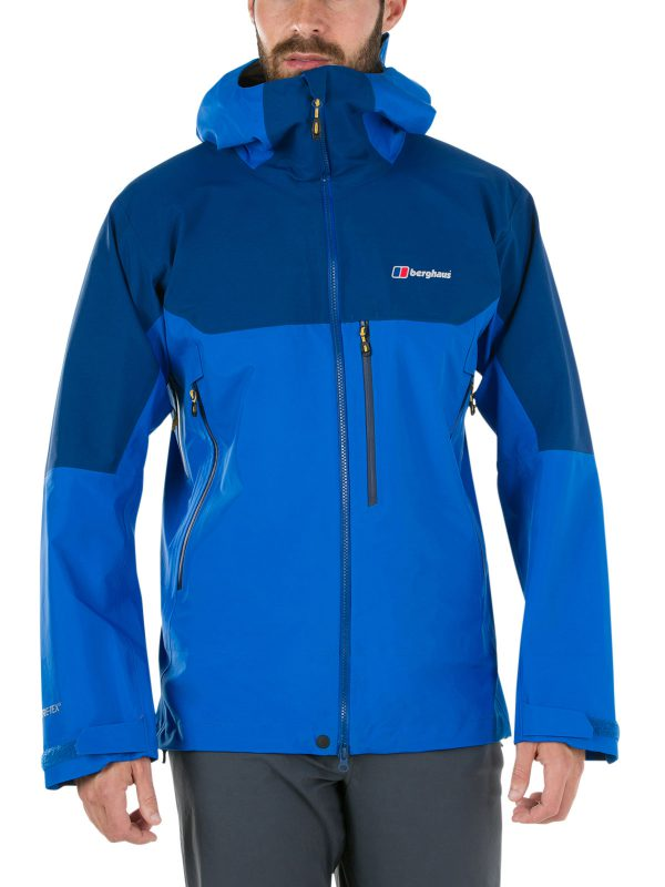 berghaus EXTREM 5000 WATERPROOF JACKET front blue