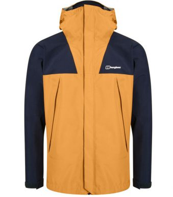 berghaus ATHUNDER waterproof jacket for mountain - yellow - front