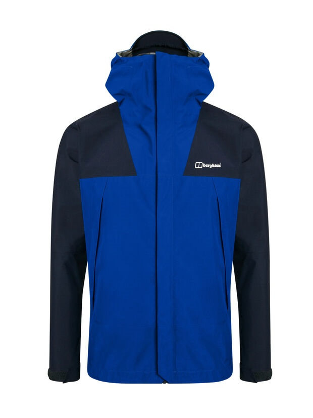 berghaus ATHUNDER waterproof jacket for mountain - dark blu- front