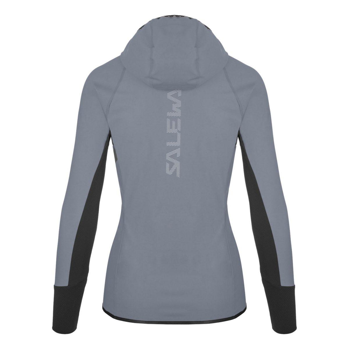 salewa AGNER DURASTRETCH DRY JACKET - women for mountain grey waterproof back