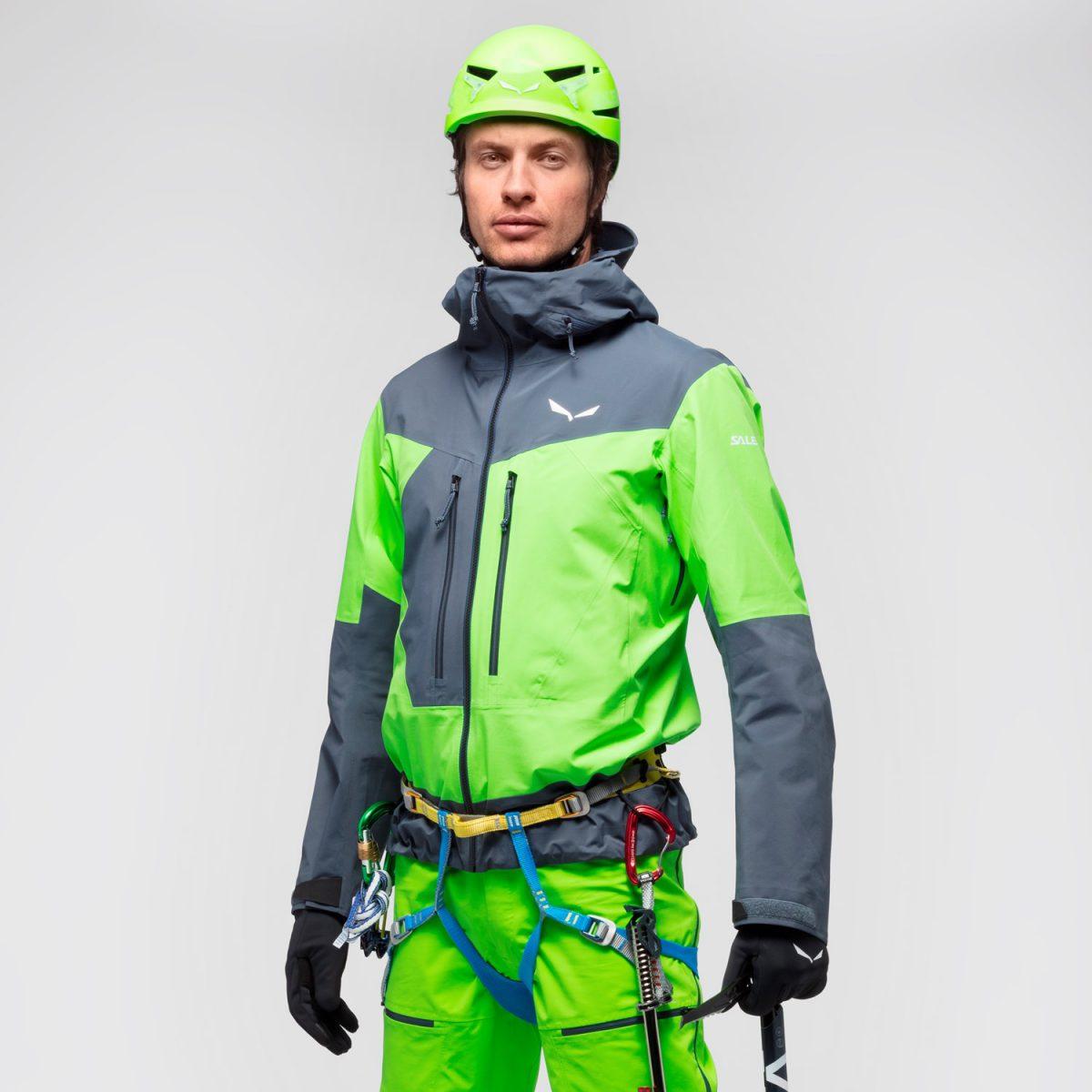 ORTLES 3 GORE-TEX PRO waterproof man jacket waterproof green herness compatible