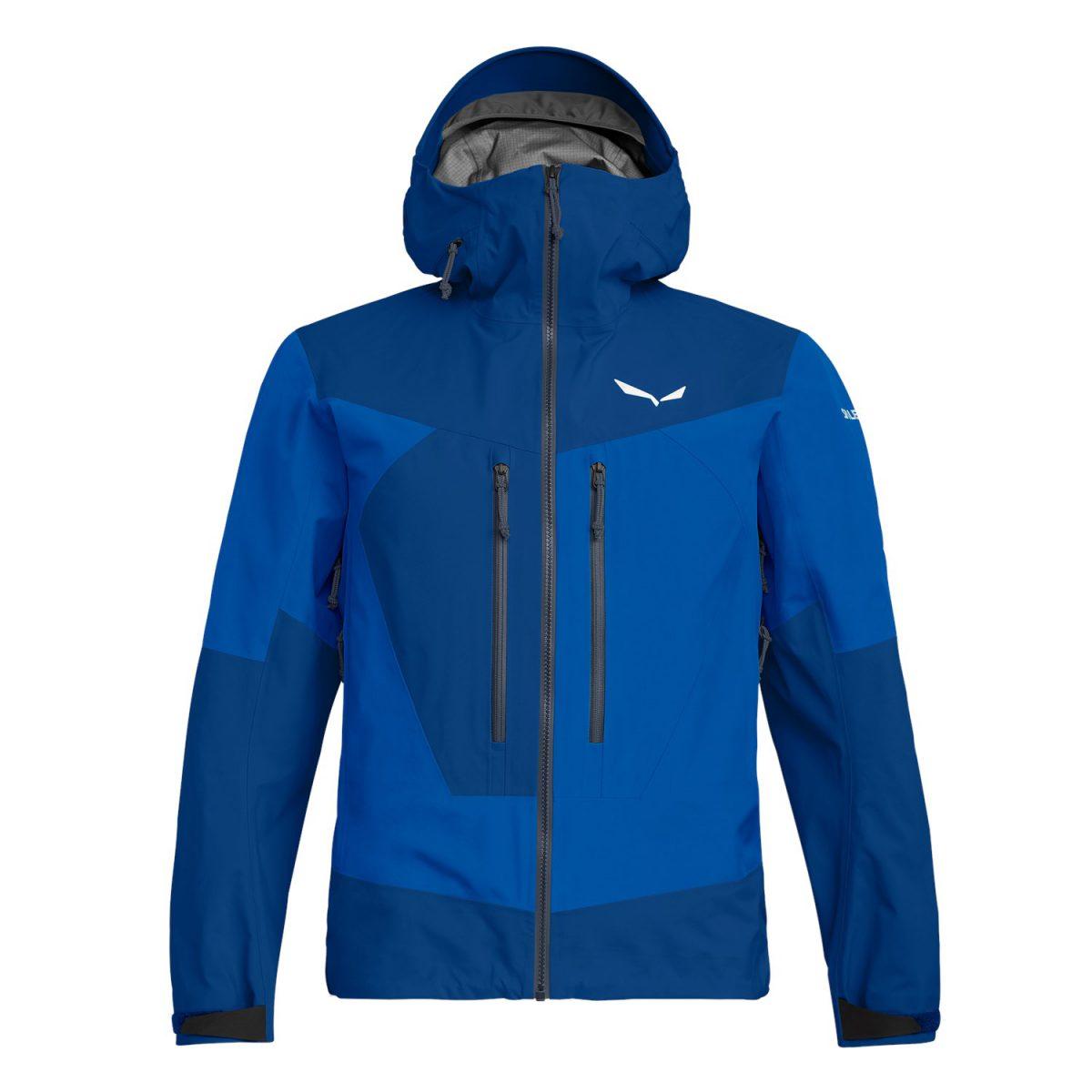 ORTLES 3 GORE-TEX PRO waterproof man jacket blue for winter season in the alps