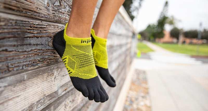 Injinji socks used by Mike McKnight